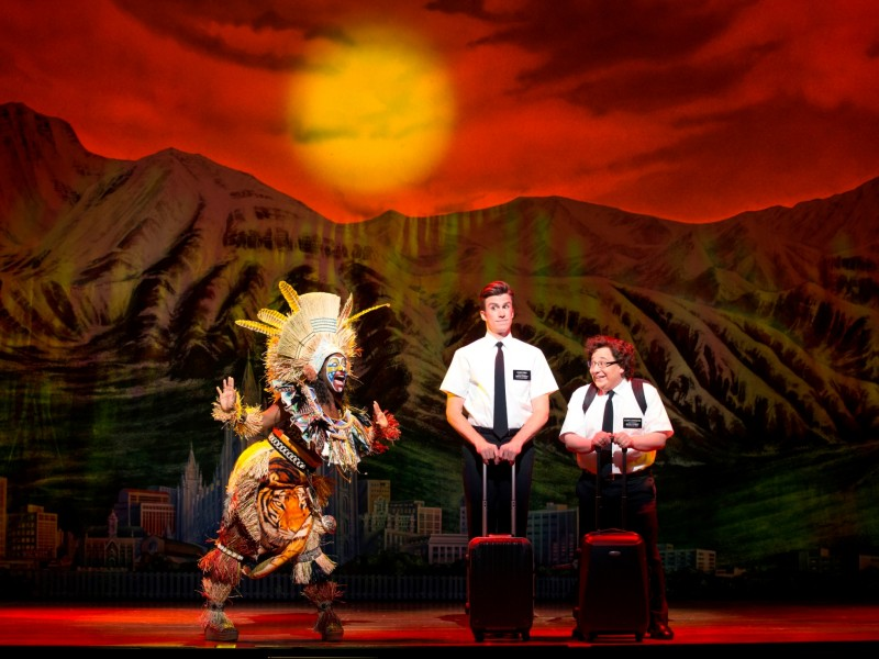 Gavin Creel (Elder Price) and Jared Gertner (Elder Cunningham)  in 'The Book of Mormon' (London)  © Joan Marcus