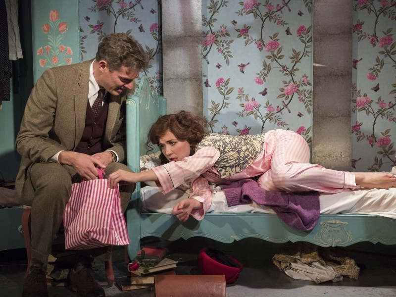 Mark Umbers (Georg Nowack), Scarlett Stallen (Amalia Balash)  in 'She Loves Me' (London)  © Alastair Muir