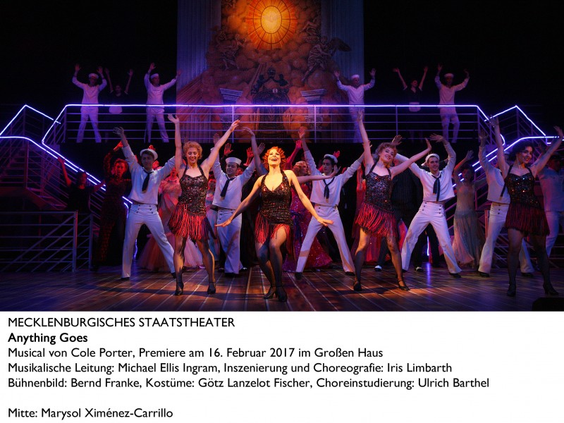 Marysol Ximénez-Carrillo (Reno Sweeney)  in 'Anything Goes' (Schwerin)  © Silke Winkler
