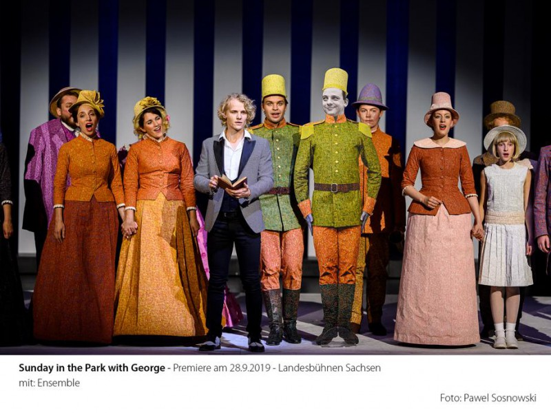George (Tobias Bieri) und Ensemble  in 'Sunday in the Park With George' (Radebeul)  © Pawel Sosnowski