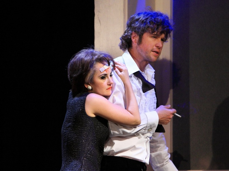 Katharine Mehrling (Judy Garland), Torben Krämer (Mickey Deans)  in 'End of the Rainbow' (Berlin)  © DERDEHMEL/Urbschat