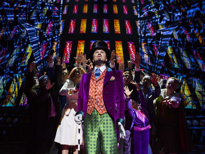 Douglas Hodge (Willy Wonka)  in 'Charlie and the Chocolate Factory' (London)  © Helen Maybanks