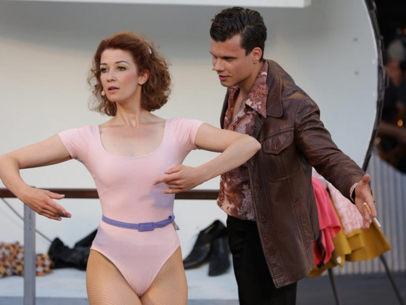 Julia Lißel (Stephanie Mangano), Lucas Baier (Tony Maero)  in 'Saturday Night Fever' (Bad Gandersheim)  © Hillebrecht /Die Fotomaus