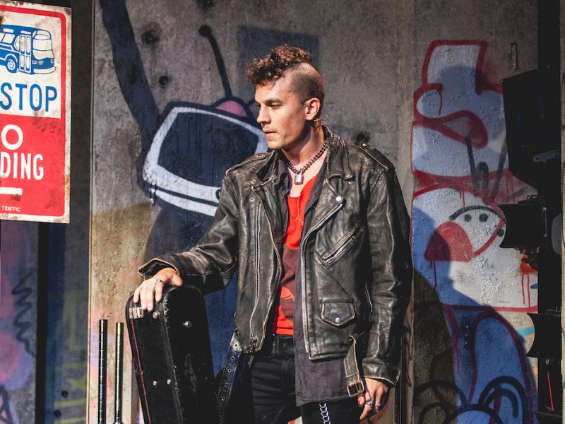 Aaron Sidwell (Johnny)  in 'American Idiot' (London)  © Darren Bell