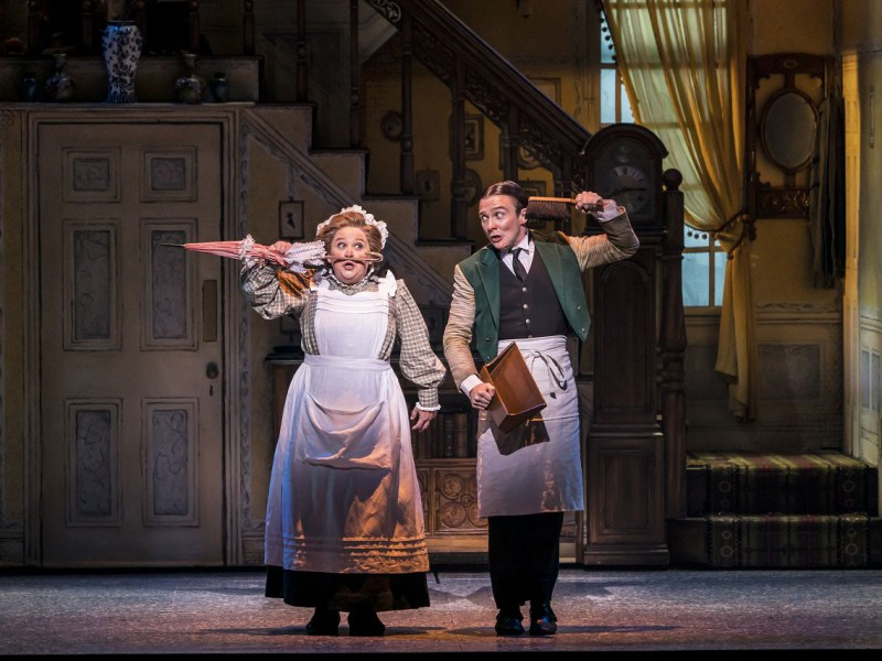 Claire Machin (Mrs Brill), Jack North (Robertson Ay)  in 'Mary Poppins' (London)  © Johan Persson