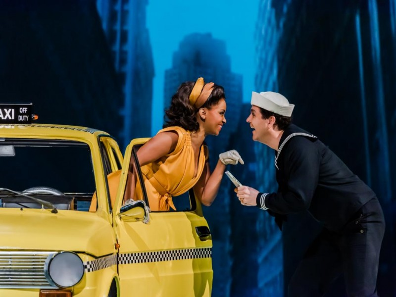 Hildy Esterhazy (Zodwa Selele), Chip (Andreas Rainer)   in 'On the Town' (Leipzig)  © Kirsten Nijhof