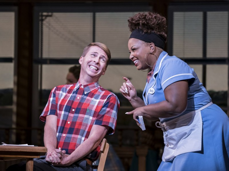 Jack McBrayer (Ogie), Marisha Wallace (Becky)  in 'Waitress' (London)  © Johann Persson