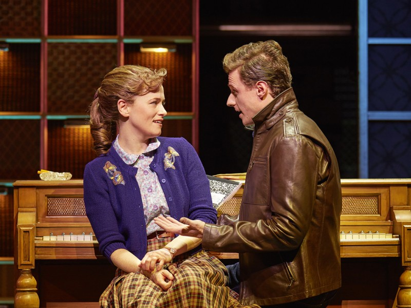 Katie Brayben (Carole King), Alan  Morrissey (Gerry Goffin)  in 'Beautiful - The Carole King Musical' (London)  © Brinkhoff / Moegenburg