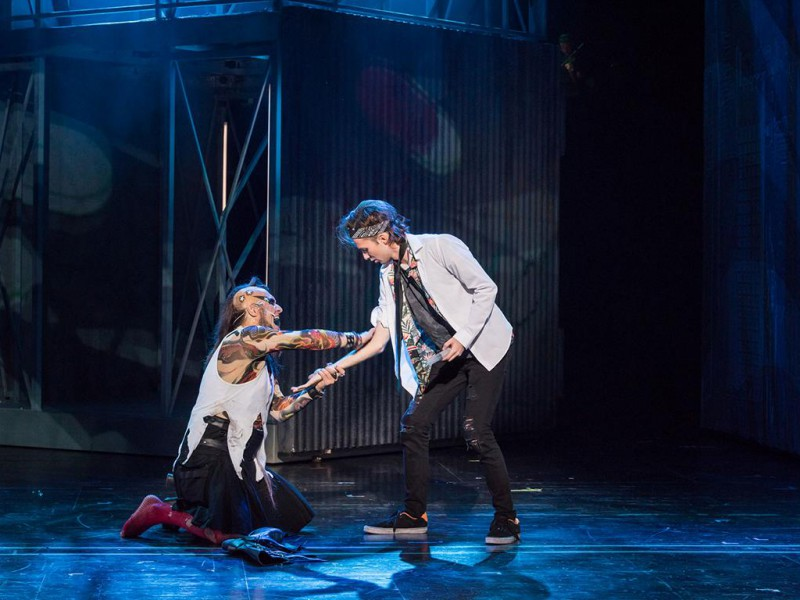 Andy Kuntz (St. Jimmy), Edward R. Serban (Johnny)  in 'American Idiot' (München)  © Lioba Schöneck