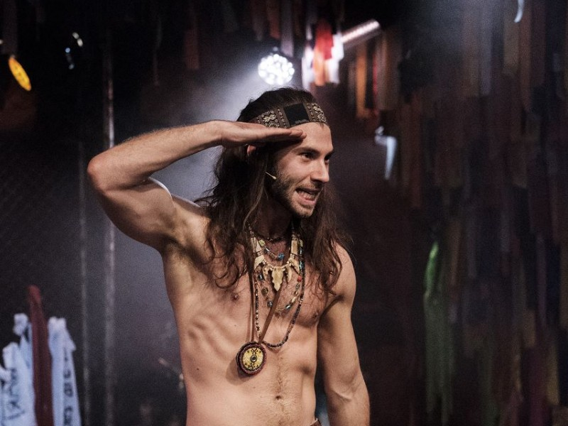 Andy Coxon (Berger)  in 'Hair' (London)  © Claire Bilyard