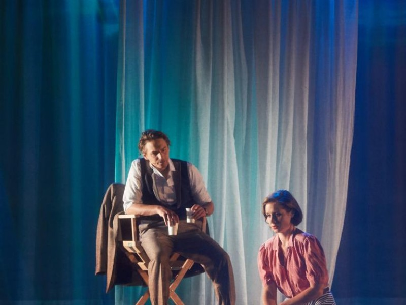 Dominik Hees (Joe Gillis), Merle Hoch (Betty Schaefer)  in 'Sunset Boulevard' (Bozen)  © Christoph Sebastian