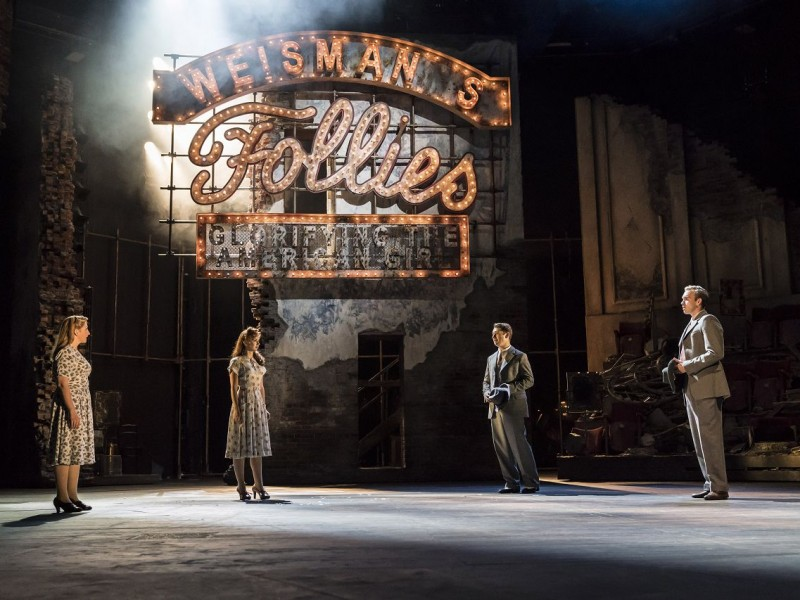 l-r: Zizi Strallen (Young Phyllis), Alex Young (Young Sally), Fred Haig (Young Buddy), Adam Rhys-Charles (Young Ben)  in 'Follies' (London)  © Johan Persson