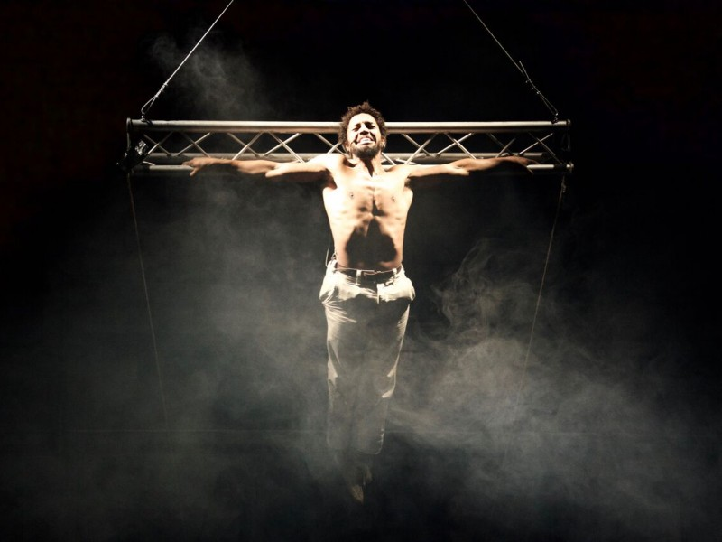 Lukas Nadjiri (Jesus)  in 'Jesus Christ Superstar (Archiv)' (Marburg)  © Theater