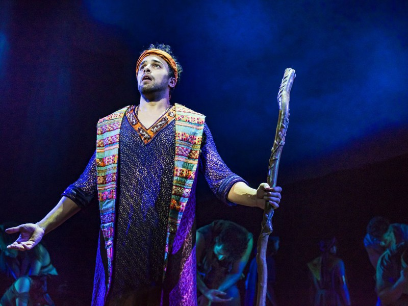 Luke Brady (Moses)  in 'The Prince of Egypt' (London)  © Matt Crockett