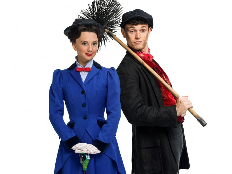 Zizi Strallen (Mary), Charlie Stemp (Bert)  in 'Mary Poppins' (London)  © Seamus Ryan