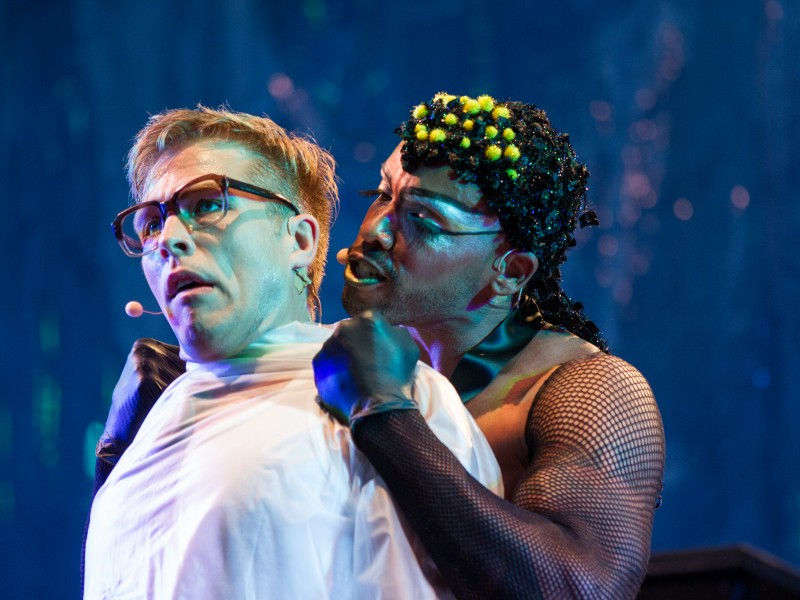 David Lee Krohn, Gino Emnes  in 'The Rocky Horror Show' (Zwingenberg)  © Emilia Horpácsi