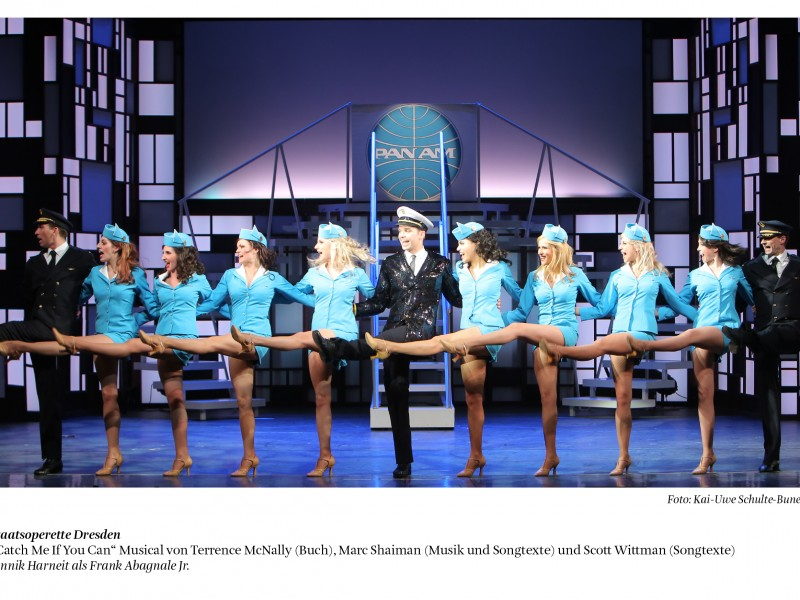 Ensemble  in 'Catch Me If You Can' (Dresden)  © Kai-Uwe Schulte-Bunert