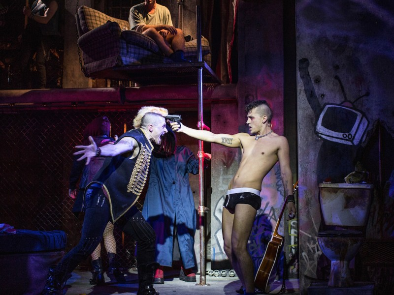 L-R Lucas Rush (St. Jimmy), Aaron Sidwell (Johnny)  in 'American Idiot' (London)  © Darren Bell