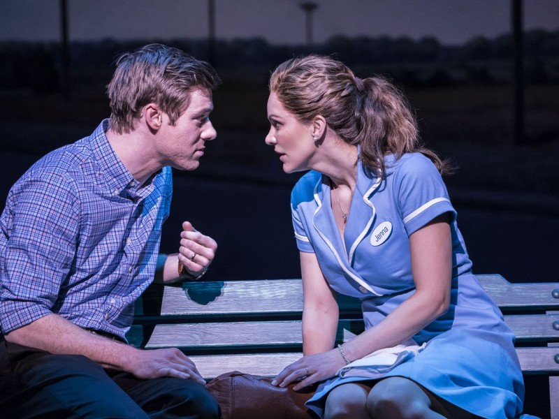 David Hunter (Dr. Pomatter), Katharine McPhee (Jenna)  in 'Waitress' (London)  © Johann Persson