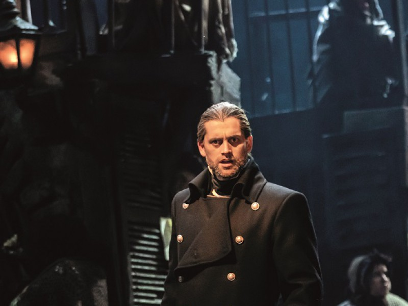 Bradley Jaden (Javert)  in 'Les Misérables' (London)  © Johan Persson
