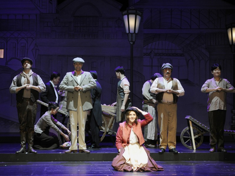 Ensemble  in 'My Fair Lady' (Saarbrücken)  © Martin Kaufhold