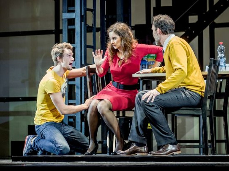 Dirk Johnston, Pia Douwes, Thomas Borchert  in 'Next to Normal - Fast normal' (Fürth)  © Thomas Langer