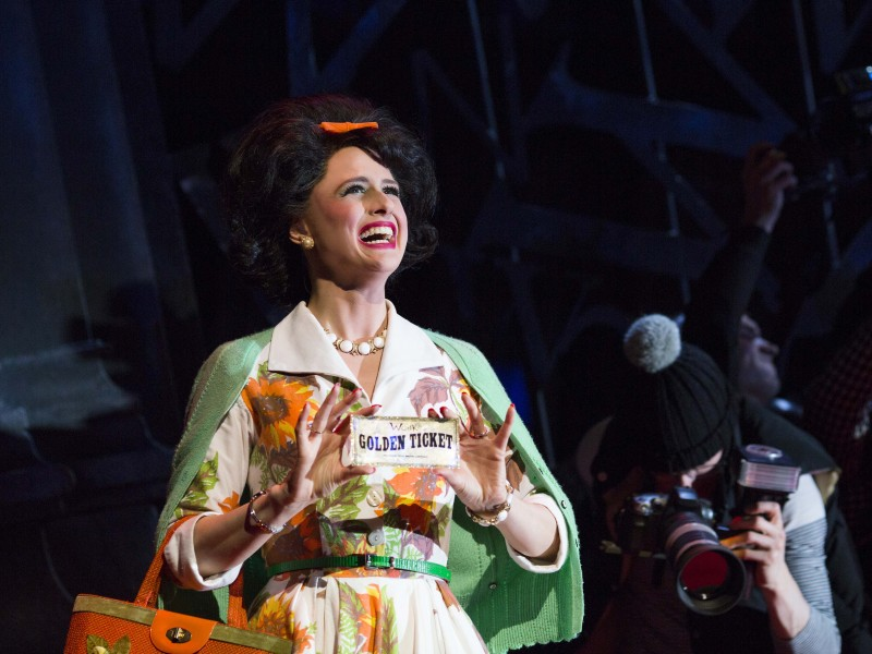 Iris Roberts (Mrs Teazee)  in 'Charlie and the Chocolate Factory' (London)  © Helen Maybanks