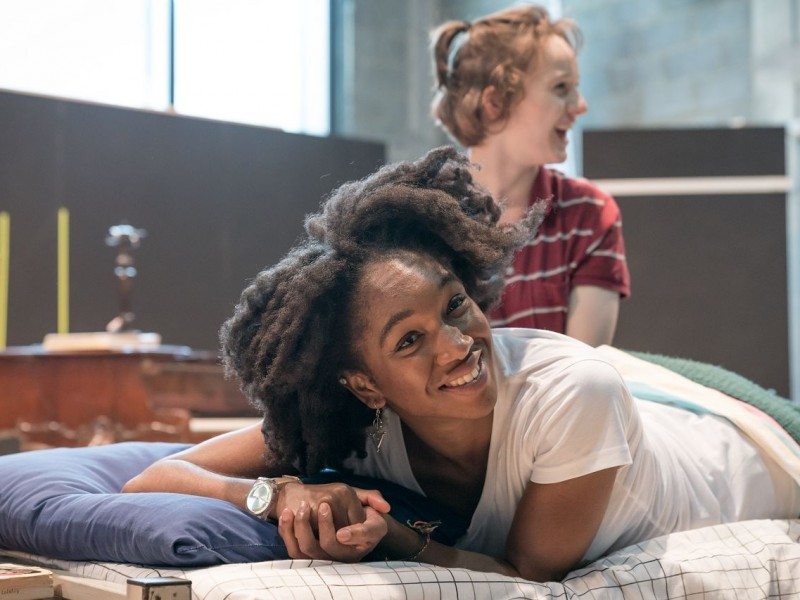 Cherrelle Skeete (Joan), Eleanor Kane (Medium Alison)  in 'Fun Home' (London)  © Marc Brenner