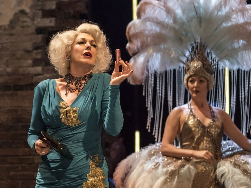 l-r: Geraldine Fitzgerald (Solange LaFitte), Sarah-Marie Maxwell (Young Solange)  in 'Follies' (London)  © Johan Persson