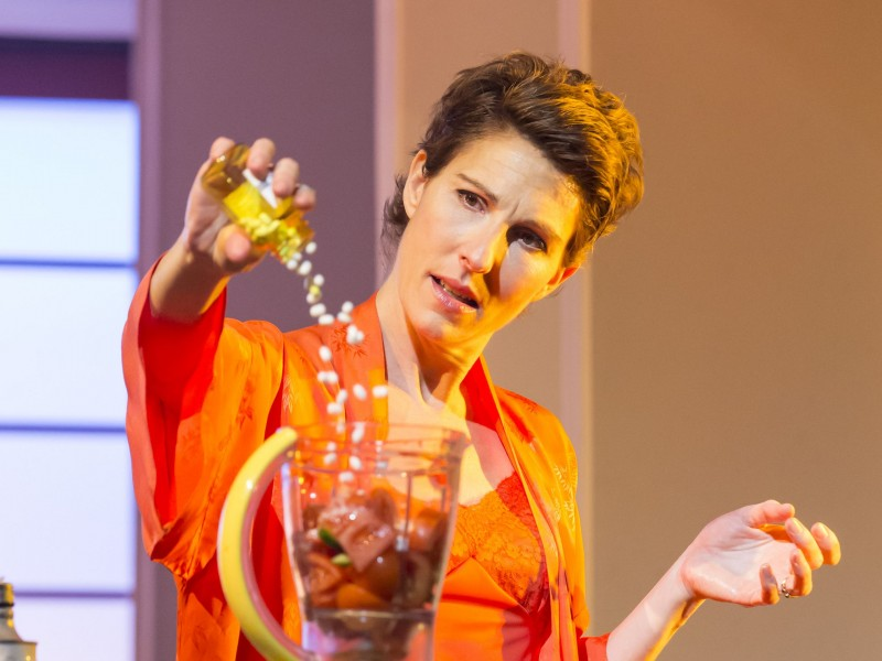 Tamsin Greig (Pepa Marcos)  in 'Women on the Verge of a Nervous Breakdown' (London)  © Johan Persson