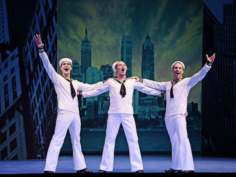 Jörn-Felix Alt, Daniel Prohaska, Boris Pfeifer   in 'On the Town' (St. Gallen)  © Andreas J. Etter