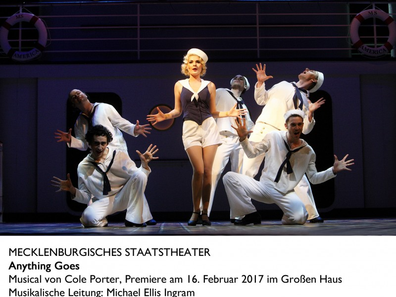 Ann-Christin Fray (Erma)  in 'Anything Goes' (Schwerin)  © Silke Winkler
