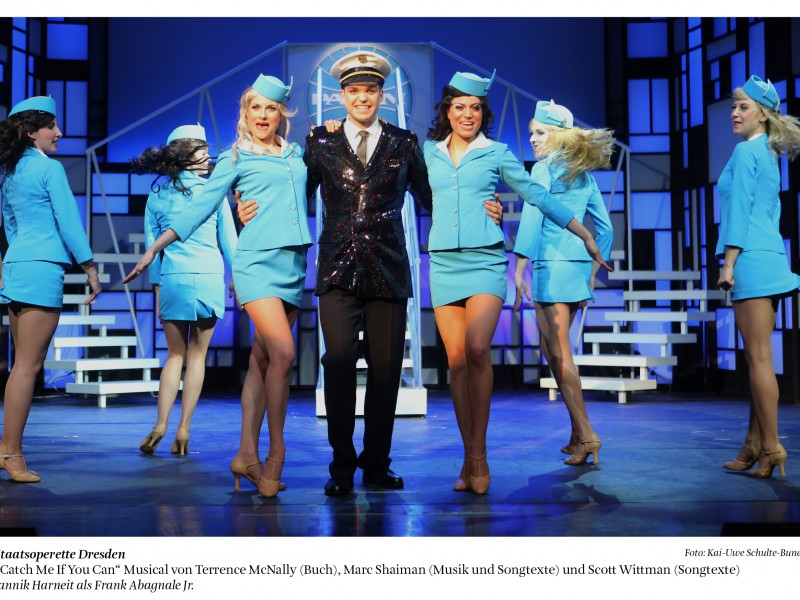 Jannik Harneit  in 'Catch Me If You Can' (Dresden)  © Kai-Uwe Schulte-Bunert