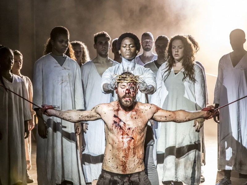 Tyrone Huntley (Judas), Declan Bennett (Judas)  in 'Jesus Christ Superstar' (London)  © Johan Persson
