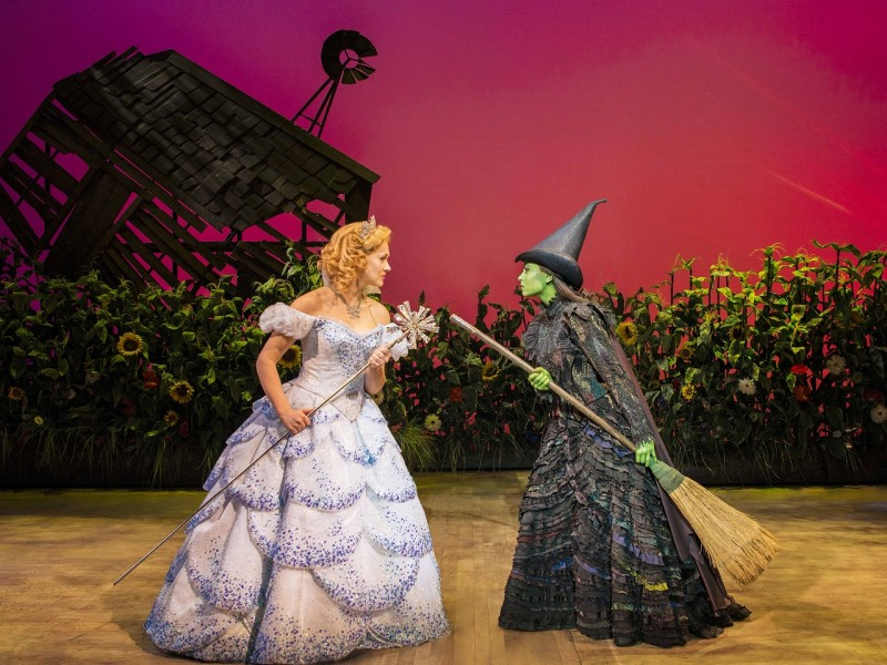 Savannah Stevenson (Glinda), Emma Hatton (Elphaba)  in 'Wicked' (London)  © Matt  Crockett