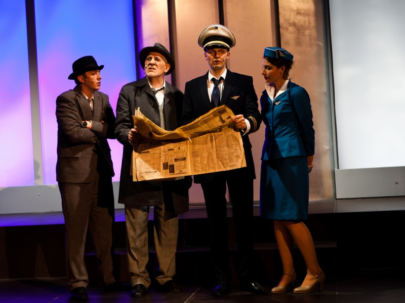 Ensemble  in 'Catch Me If You Can' (Jagsthausen)  © Burgfestspiele Jagsthausen
